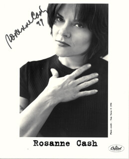 ROSANNE CASH - PRINTED PHOTOGRAPH SIGNED IN INK 1999