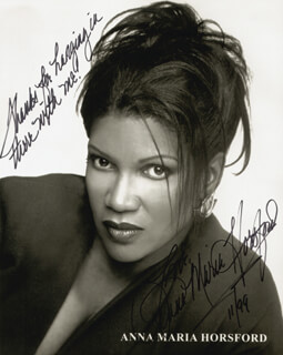 ANNA MARIA HORSFORD - AUTOGRAPHED SIGNED PHOTOGRAPH 11/1999