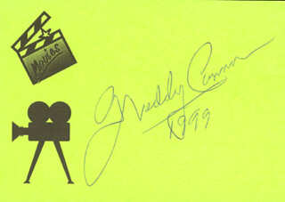 FREDDY CANNON - PRINTED CARD SIGNED IN INK 1999