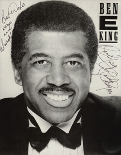 BEN E. KING - PRINTED PHOTOGRAPH SIGNED IN INK