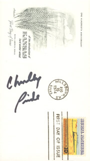 CHARLEY PRIDE - FIRST DAY COVER SIGNED