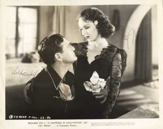 IT HAPPENED IN HOLLYWOOD MOVIE CAST - AUTOGRAPHED SIGNED PHOTOGRAPH CO-SIGNED BY: FAY WRAY, RICHARD DIX