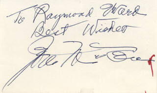 JOEL McCREA - AUTOGRAPH NOTE SIGNED