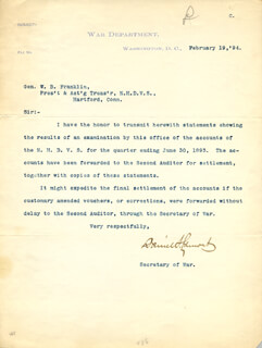 DANIEL S. LAMONT - TYPED LETTER SIGNED 02/19/1894