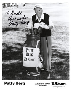 Autographs: PATTY BERG - INSCRIBED PHOTOGRAPH SIGNED
