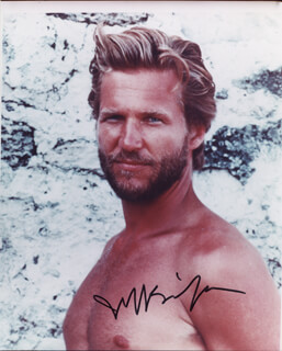 JEFF BRIDGES - AUTOGRAPHED SIGNED PHOTOGRAPH