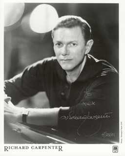 RICHARD CARPENTER - AUTOGRAPHED INSCRIBED PHOTOGRAPH 04/23/2001