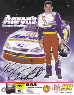 KERRY D. EARNHARDT - AUTOGRAPHED SIGNED PHOTOGRAPH