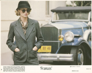 FRANCES MOVIE CAST - LOBBY CARD UNSIGNED (USA) 1982