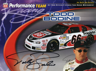TODD BODINE - PRINTED PHOTOGRAPH SIGNED IN INK