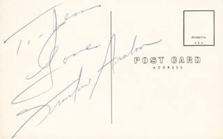 Autographs: FRANKIE AVALON - AUTOGRAPH NOTE SIGNED