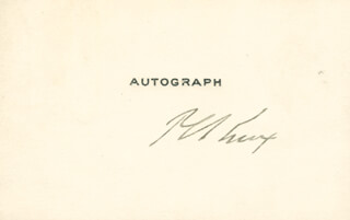 PHILANDER C. KNOX - PRINTED CARD SIGNED IN INK