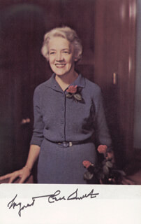 Autographs: MARGARET CHASE SMITH - PICTURE POST CARD SIGNED