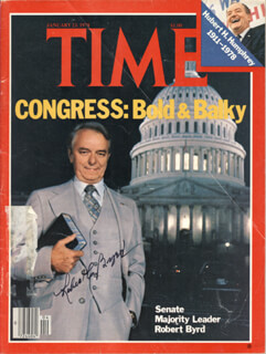 Autographs: ROBERT C. BYRD - MAGAZINE COVER SIGNED