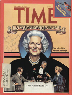 LETITIA BALDRIGE - MAGAZINE COVER UNSIGNED 04/04/1985