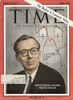 Autographs: WALTER W. HELLER - MAGAZINE SIGNED