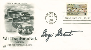 GOGI GRANT - FIRST DAY COVER SIGNED