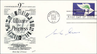 Autographs: MOSHE ARENS - FIRST DAY COVER SIGNED