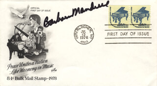 BARBARA MANDRELL - FIRST DAY COVER SIGNED