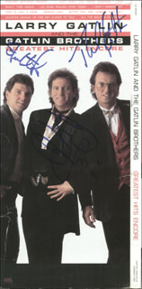 THE GATLIN BROTHERS - COMPACT DISC CASE SIGNED CO-SIGNED BY: THE GATLIN BROTHERS (LARRY GATLIN), THE GATLIN BROTHERS (RUDY GATLIN), THE GATLIN BROTHERS (STEVE GATLIN)