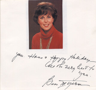 BESS MYERSON - INSCRIBED PHOTOGRAPH MOUNT SIGNED