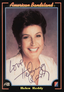 HELEN REDDY - TRADING/SPORTS CARD SIGNED