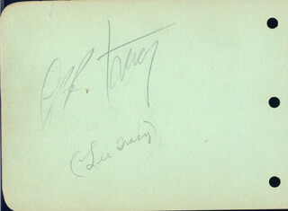LEE TRACY - AUTOGRAPH CO-SIGNED BY: GEORGE E. STONE