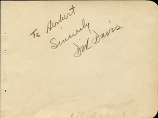DIX DAVIS - AUTOGRAPH NOTE SIGNED CO-SIGNED BY: TERRY O'SULLIVAN