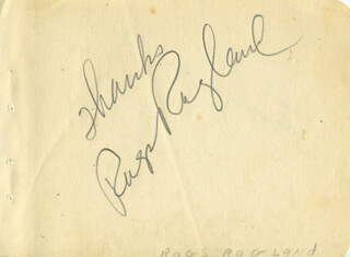 RAGS (JOHN MORGAN) RAGLAND - AUTOGRAPH SENTIMENT SIGNED CO-SIGNED BY: RICHARD QUINE