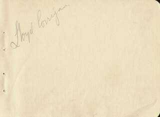 JAMES (JIMMY) CARDWELL - AUTOGRAPH SENTIMENT SIGNED CO-SIGNED BY: LLOYD CORRIGAN