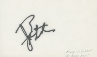 THE BEACH BOYS (BRUCE JOHNSTON) - AUTOGRAPH