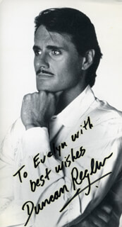 DUNCAN REGHER - AUTOGRAPHED INSCRIBED PHOTOGRAPH