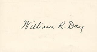Autographs: ASSOCIATE JUSTICE WILLIAM R. DAY - SIGNATURE(S)