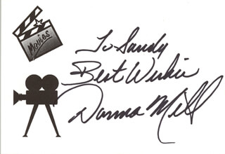 Autographs: DONNA MILLS - PRINTED CARD SIGNED IN INK
