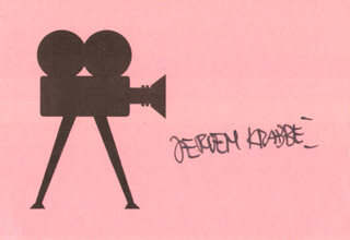 JEROEN KRABBE - PRINTED CARD SIGNED IN INK