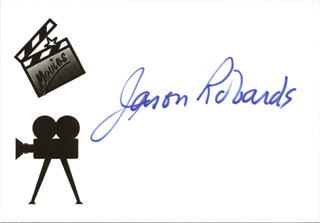 JASON ROBARDS JR. - AUTOGRAPH