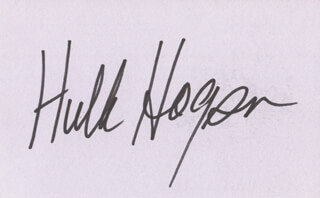 Autographs: HULK HOGAN - SIGNATURE(S)