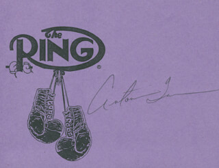 ANTONIO TARVER - PRINTED CARD SIGNED IN INK