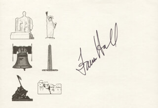 Autographs: FAWN HALL - PRINTED CARD SIGNED IN INK