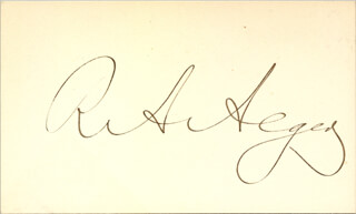 RUSSELL A. ALGER - AUTOGRAPH