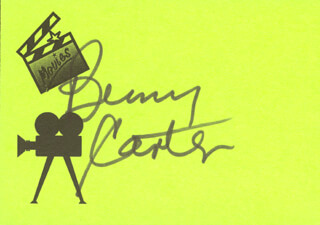 BENNY CARTER - PRINTED CARD SIGNED IN INK