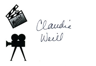 CLAUDIA WEILL - PRINTED CARD SIGNED IN INK