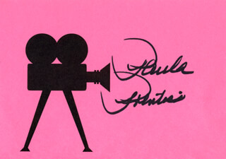 PAULA PRENTISS - PRINTED CARD SIGNED IN INK