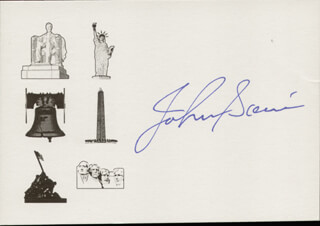 JOHNNY SAIN - PRINTED CARD SIGNED IN INK