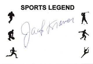 JACK KRAMER - PRINTED CARD SIGNED IN INK