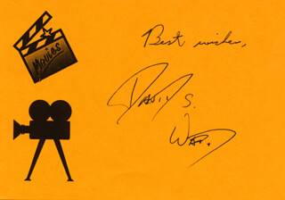 DAVID S. WARD - PRINTED CARD SIGNED IN INK