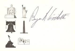 Autographs: BENJAMIN R. CIVILETTI - PRINTED CARD SIGNED IN INK
