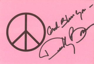 DEBBY BOONE - AUTOGRAPH SENTIMENT SIGNED