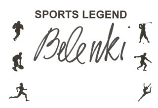 Autographs: VALERY BELENKI - PRINTED CARD SIGNED IN INK
