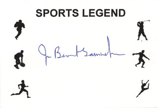 Autographs: JOAN BENOIT - PRINTED CARD SIGNED IN INK